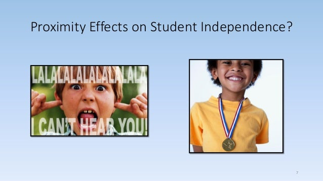 Proximity Effects on Student Independence? 7