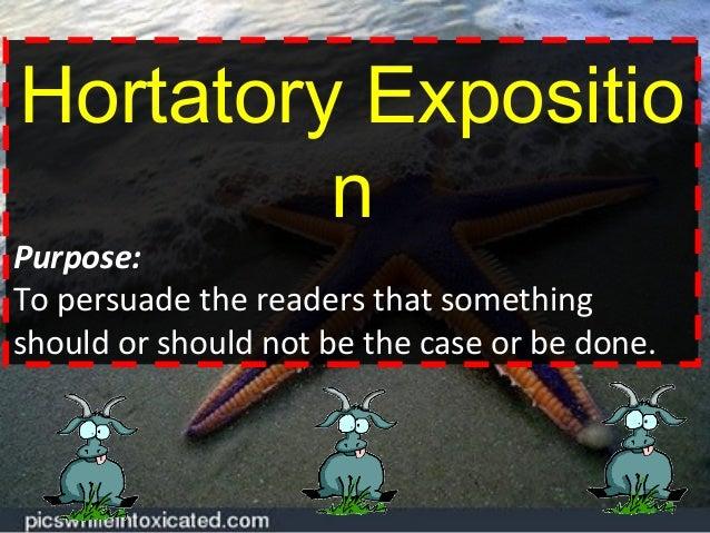 Hortatory Exposition Powerpoint