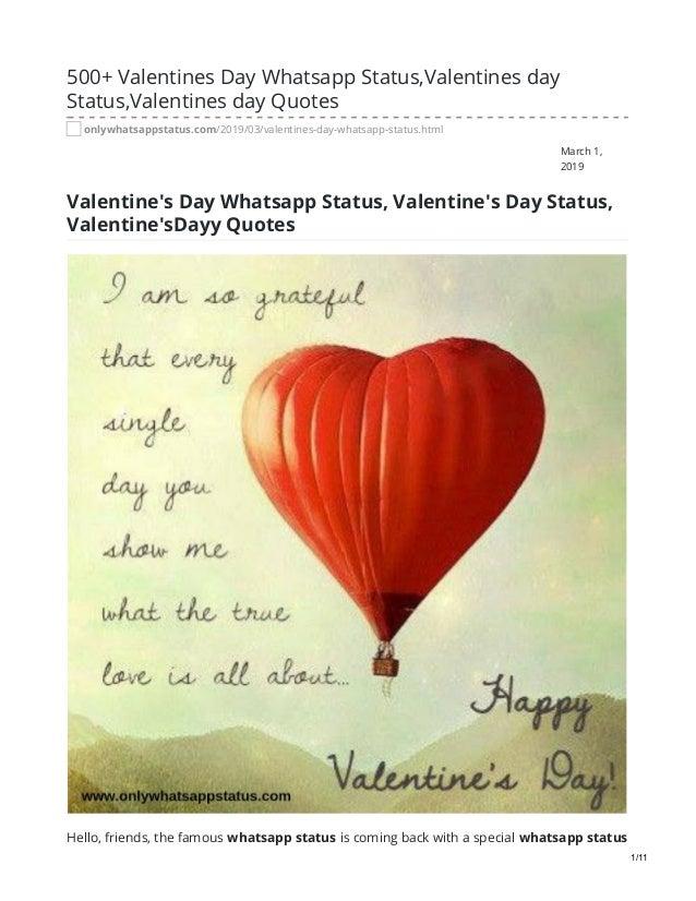onlywhatsappstatus com valentines day whatsapp status valentines