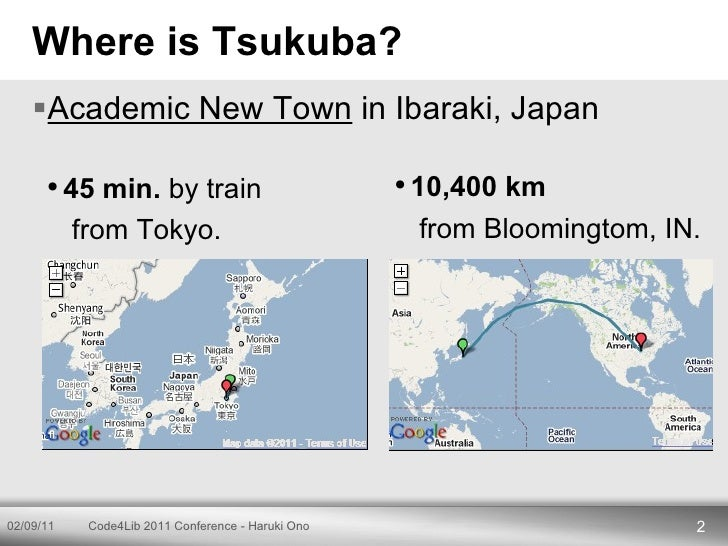 Code4Lib 2011 Conference Lightning Talks - Haruki Ono Slide 2