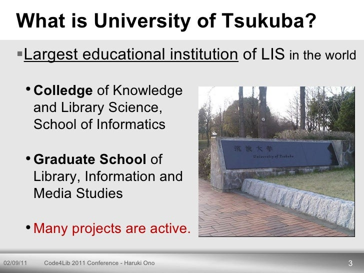 Code4Lib 2011 Conference Lightning Talks - Haruki Ono Slide 3