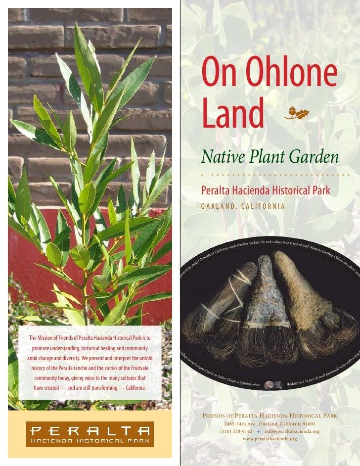 On Ohlone                                                                    Land m                                       ...