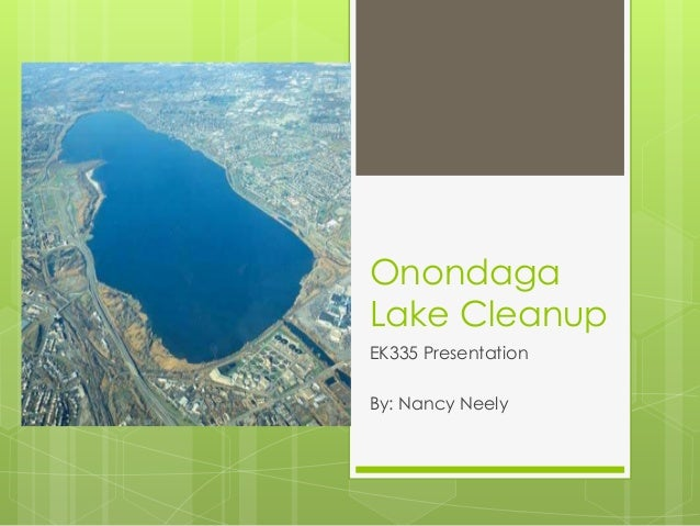 Onondaga Lake Cleanup EK335 Presentation By: Nancy Neely