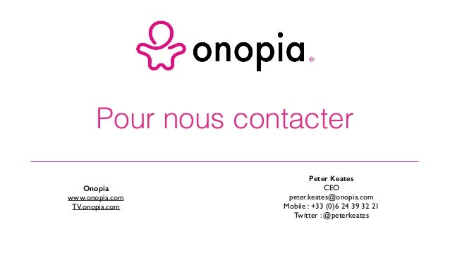 Onopia - Etude du Business Model de Clic and Walk - décembre 2015