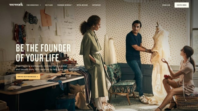 Business model de wework exp rience client coworking for Design interieur salaire