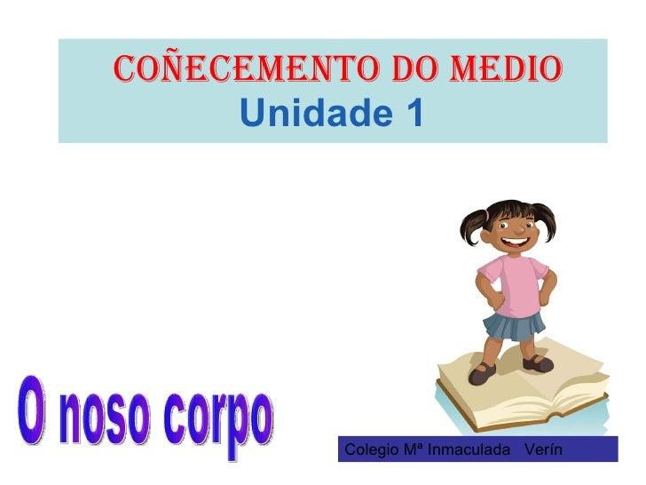 COÑECEMENTO DO MEDIO   Unidade 1 O noso corpo Colegio Mª Inmaculada  Verín