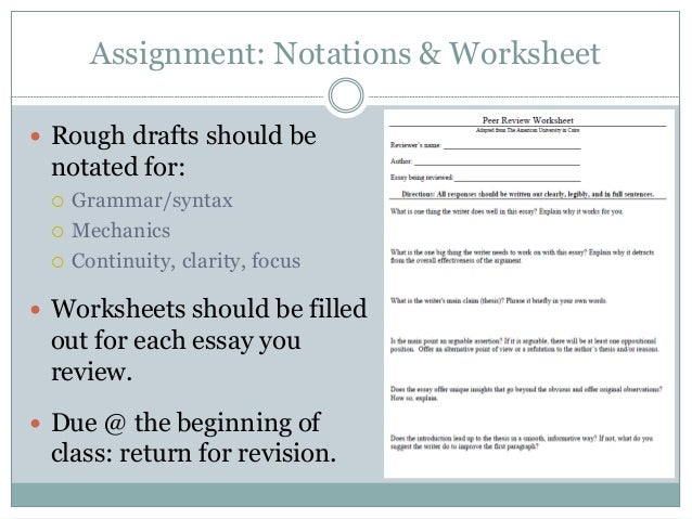 On Peer Review – Syntax Worksheets