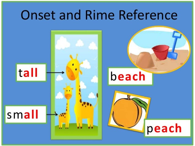 beach Onset and Rime Reference small tall peach
