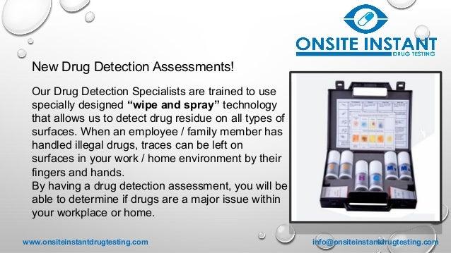 Onsite instant drug testing presentation