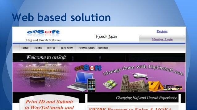Hajj and Umrah Software and Passport Reader
