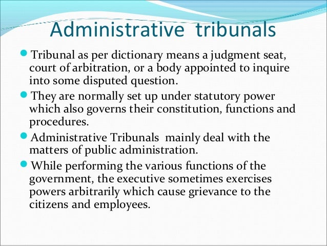 court and tribunal administration