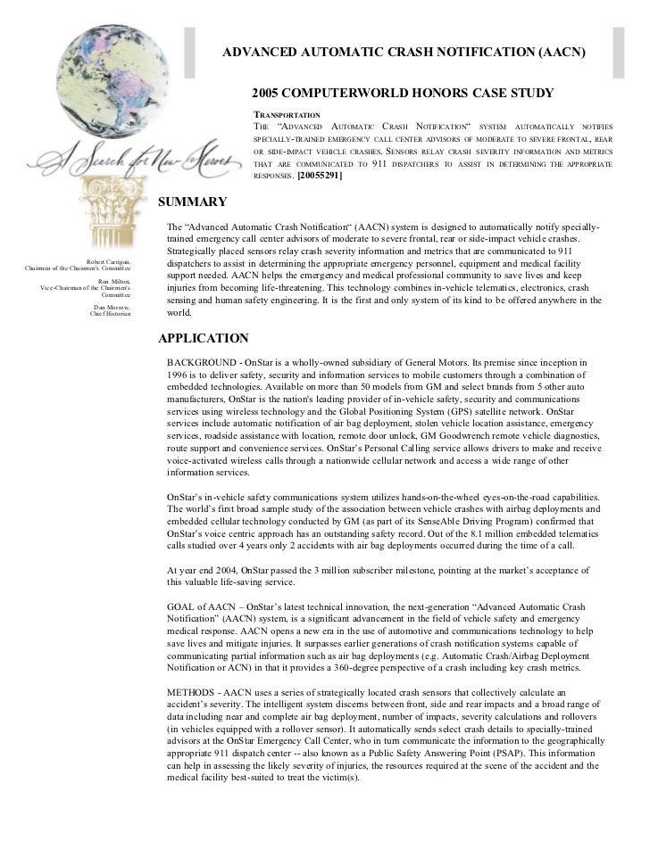 ADVANCED AUTOMATIC CRASH NOTIFICATION (AACN)                                                                2005 COMPUTERW...