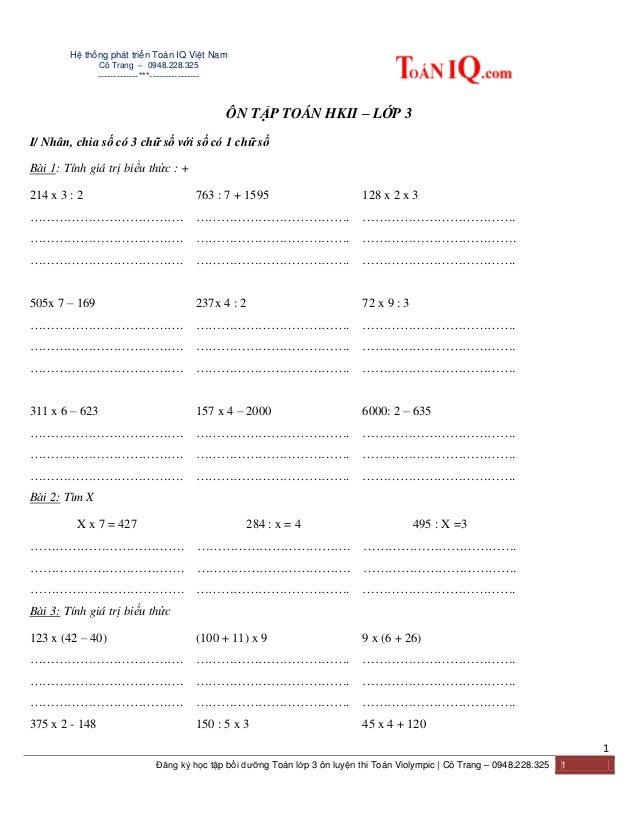 Hệ thống phát triển Toán IQ Việt Nam Cô Trang – 0948.228.325 -------------***---------------- 1 Đăng ký học tập bồi dưỡng ...