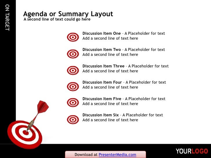 on target powerpoint template, Modern powerpoint