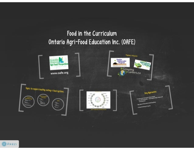Food in the Curriculum Ontario Agri-Food Education Inc.