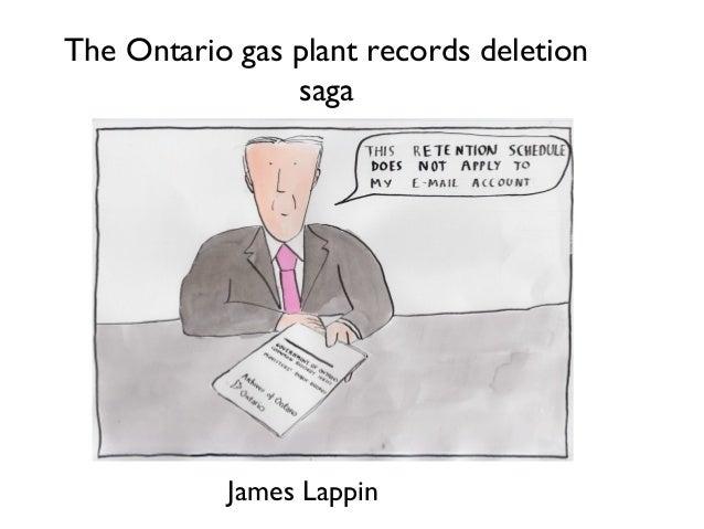 The Ontario gas plant records deletion saga James Lappin