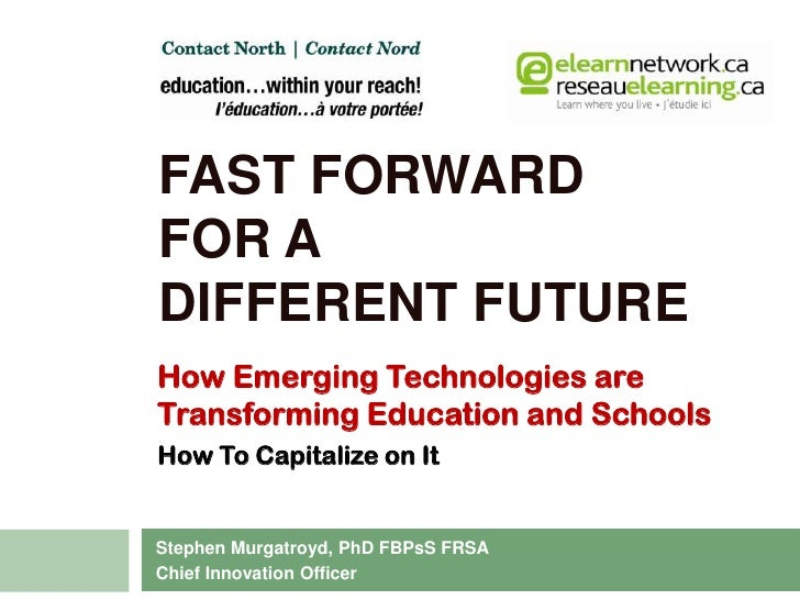 Presentation to ILC, November 2010<br />Fast Forward for adifferent future<br />How Emerging Technologies are <br />Transf...