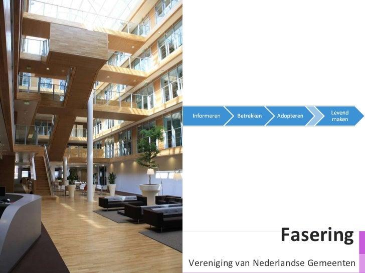 Fasering  Vereniging van Nederlandse Gemeenten