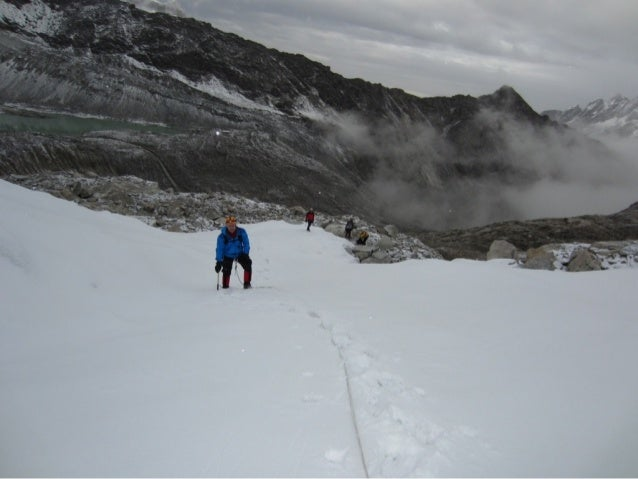 it was pretty steep and very tough going     (not to mention the altitude)