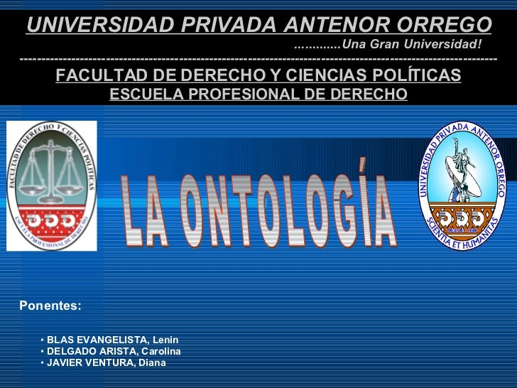 UNIVERSIDAD PRIVADA ANTENOR ORREGO .............Una Gran Universidad! ----------------------------------------------------...