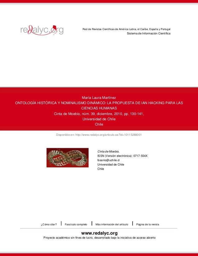 Disponible en: http://www.redalyc.org/articulo.oa?id=10115288001Red de Revistas Científicas de América Latina, el Caribe, ...