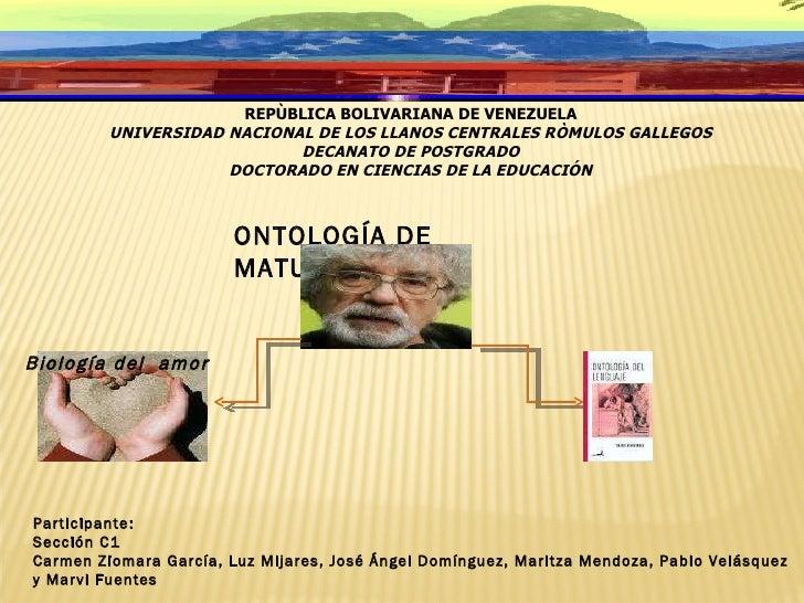 REPÙBLICA BOLIVARIANA DE VENEZUELA UNIVERSIDAD NACIONAL DE LOS LLANOS CENTRALES RÒMULOS GALLEGOS DECANATO DE POSTGRADO DOC...