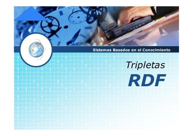 LOGO Tripletas RDF Sistemas Basados en el Conocimiento