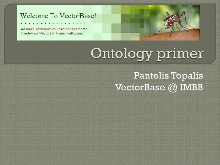 Pantelis Topalis VectorBase @ IMBB