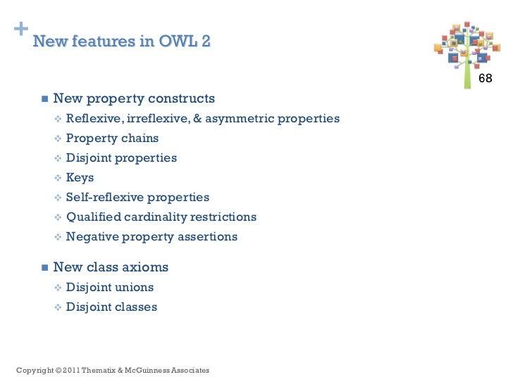 + New features in OWL 2                                                                68 68         New property constru...