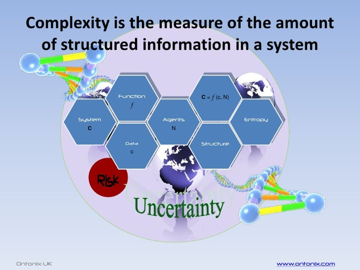 Complexity is the measure of the amount     of structured information in a system                        Function         ...