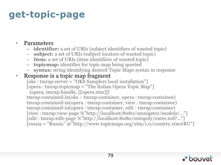 Standard use case<br />Pull in data from external source<br />turn it into Topic Maps following some ontology<br />Enrich ...