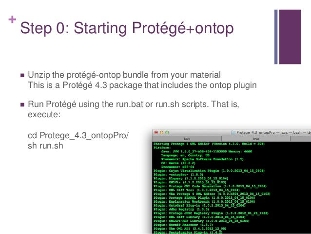+ Step 1: Defining the base URI  Define the ontology base URI: http://example.org/  Save the ontology  Close and re-ope...