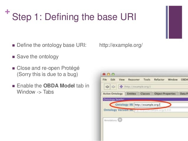 + Step 2: Add the datasource  Using the OBDA model tab, we now need to define the connection parameters to our lung cance...