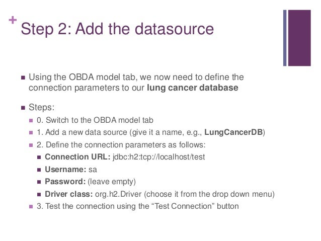 """+ Step 3: Create a mapping  Add the class: http://example.org/Patient  Switch to the """"Mapping Manager"""" tab in the OBDA M..."""