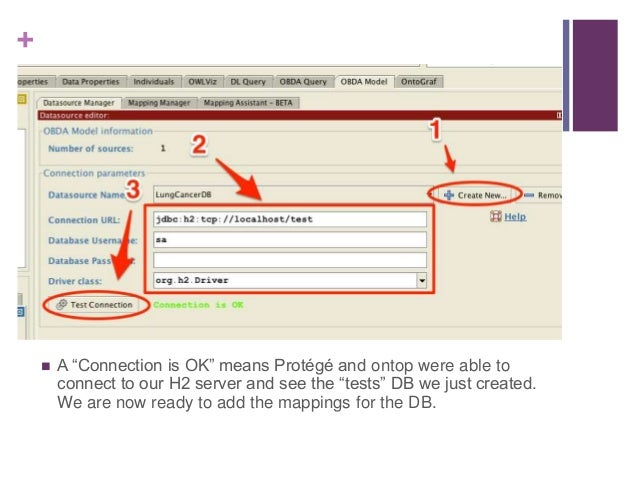 """+ Adding a Mapping  Select the LungCancerDB from the drop down menu.  Click the """"Create Button"""""""