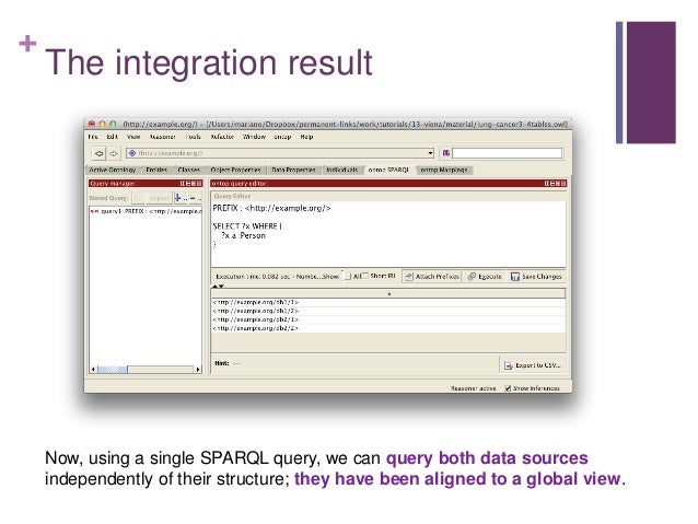 + OBDA for Data Integration  Key features of on-the-fly OBDI (ontology-based data integration) with ontop:  Flexible: Ma...