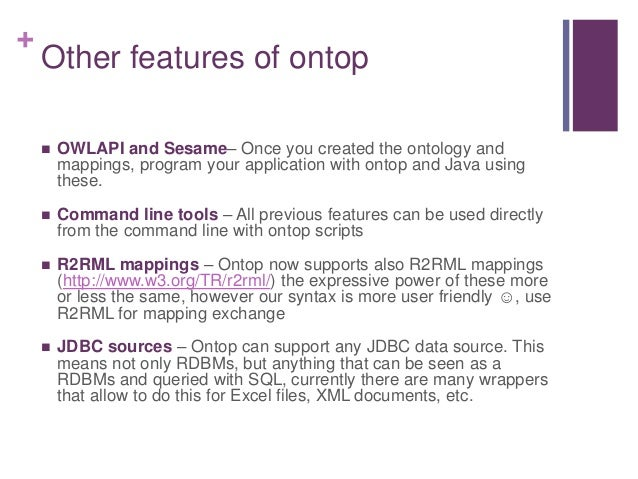 ontop: A tutorial