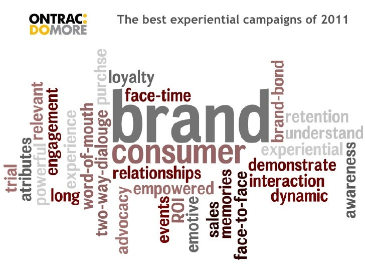 The best experiential campaigns of 2011Ontrac AgencyJanuary 2011