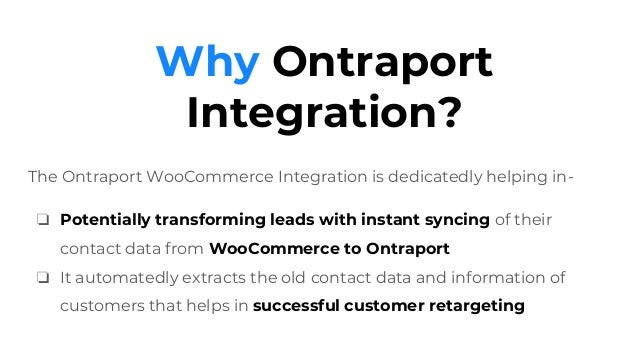 MWB Ontraport Integration for WooCommerce - Automating Contact Syncing of Customers quickly