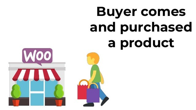 Buyer comes and purchased a product