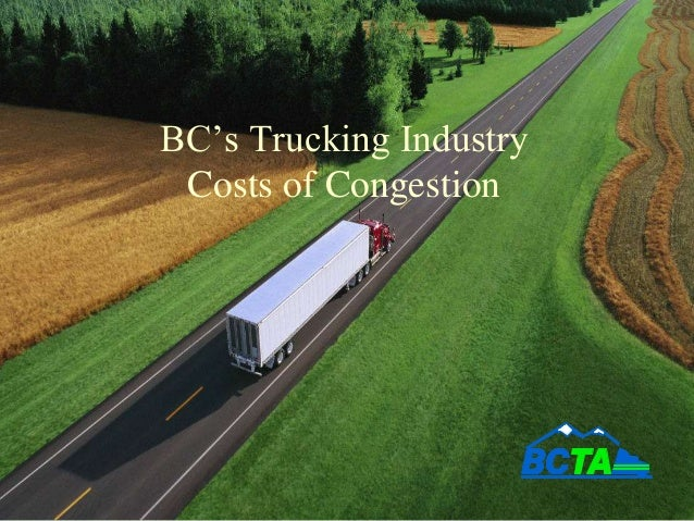 BC's Trucking Industry Costs of Congestion