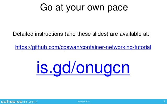 Chris Swan ONUG Academy - Container Networks Tutorial