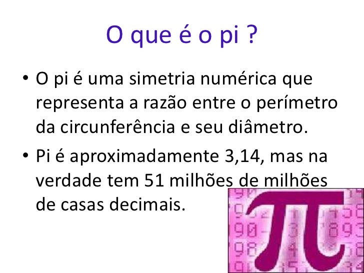 O numero pi for Full name of pi