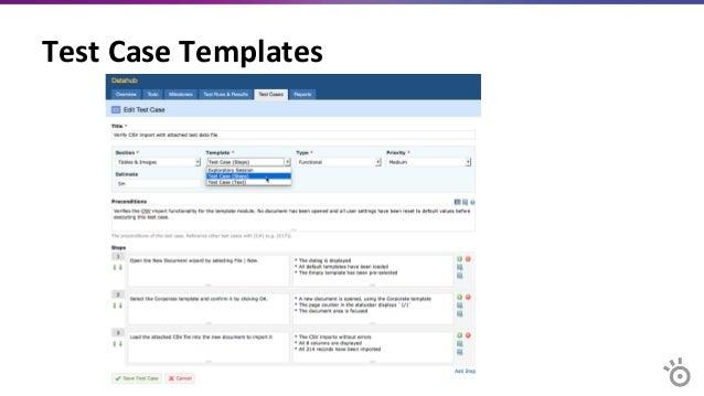agile test case template