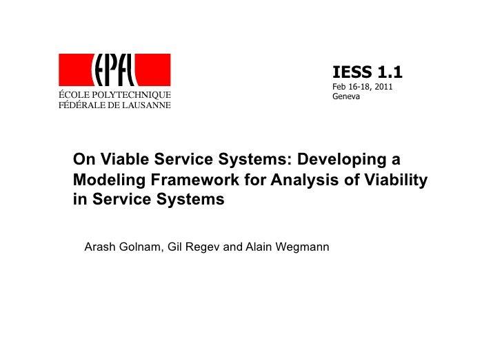 IESS 1.1                                             Feb 16-18, 2011                                             GenevaOn ...