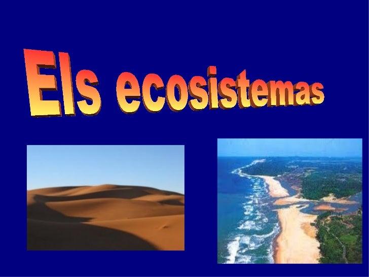 Els ecosistemas