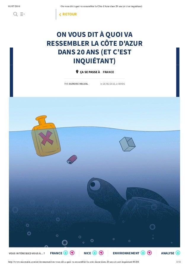 01/07/2016 On vous dit à quoi va ressembler la Côte d'Azur dans 20 ans (et c'est inquiétant) http://www.nicematin.com/envi...