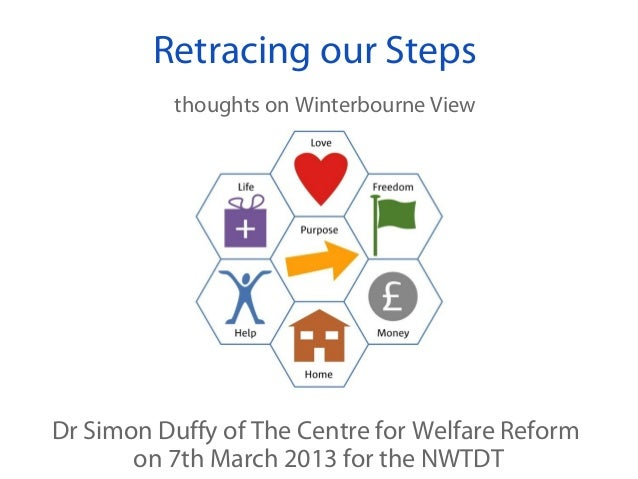 Retracing our Steps          thoughts on Winterbourne ViewDr Simon Duffy of The Centre for Welfare Reform       on 7th Mar...