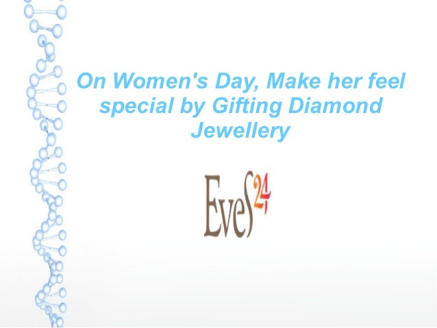 On women's day make her feel special by gifting her diamond jewellery