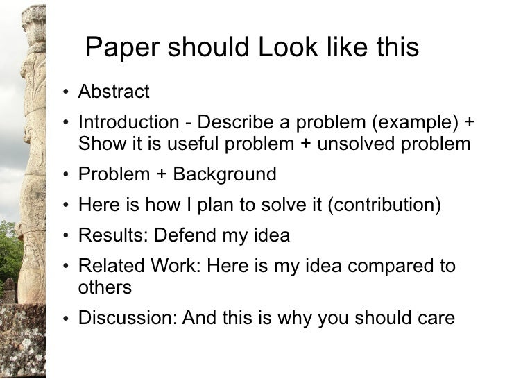 writing the background to research paper Project – a piece of research, either individual or group work, with the topic   paper – a general term for any academic essay, report, presentation or article.